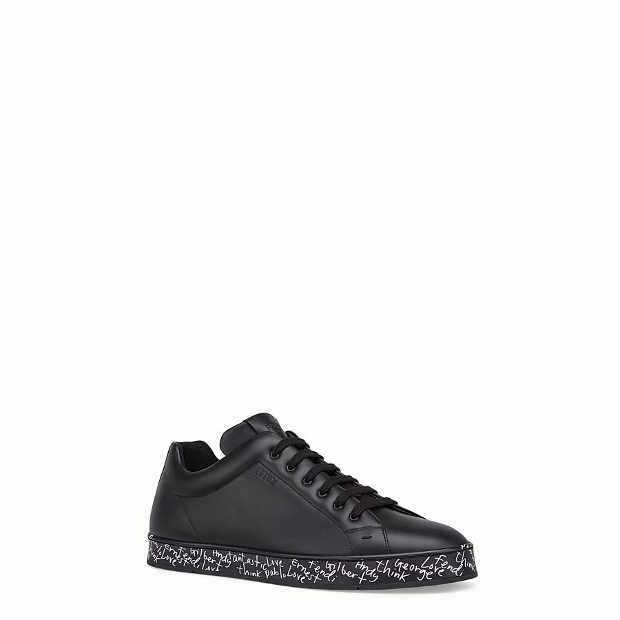 FENDI 運動鞋 - 黑色皮革運動鞋 - view 2 detail