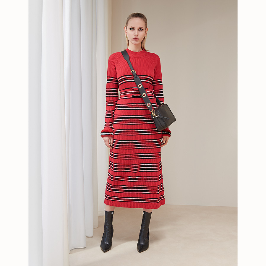 FENDI DRESS - Multicolour wool and cashmere dress - view 4 detail