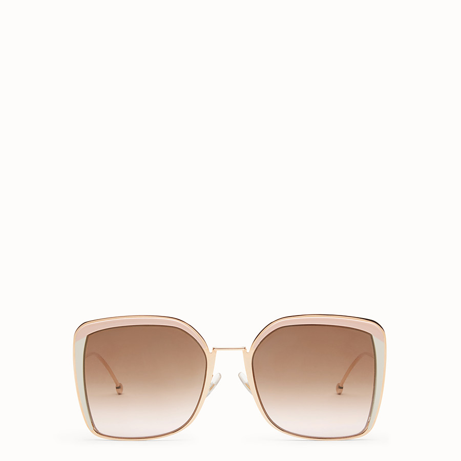 FENDI F IS FENDI - Copper-colour sunglasses - view 1 detail