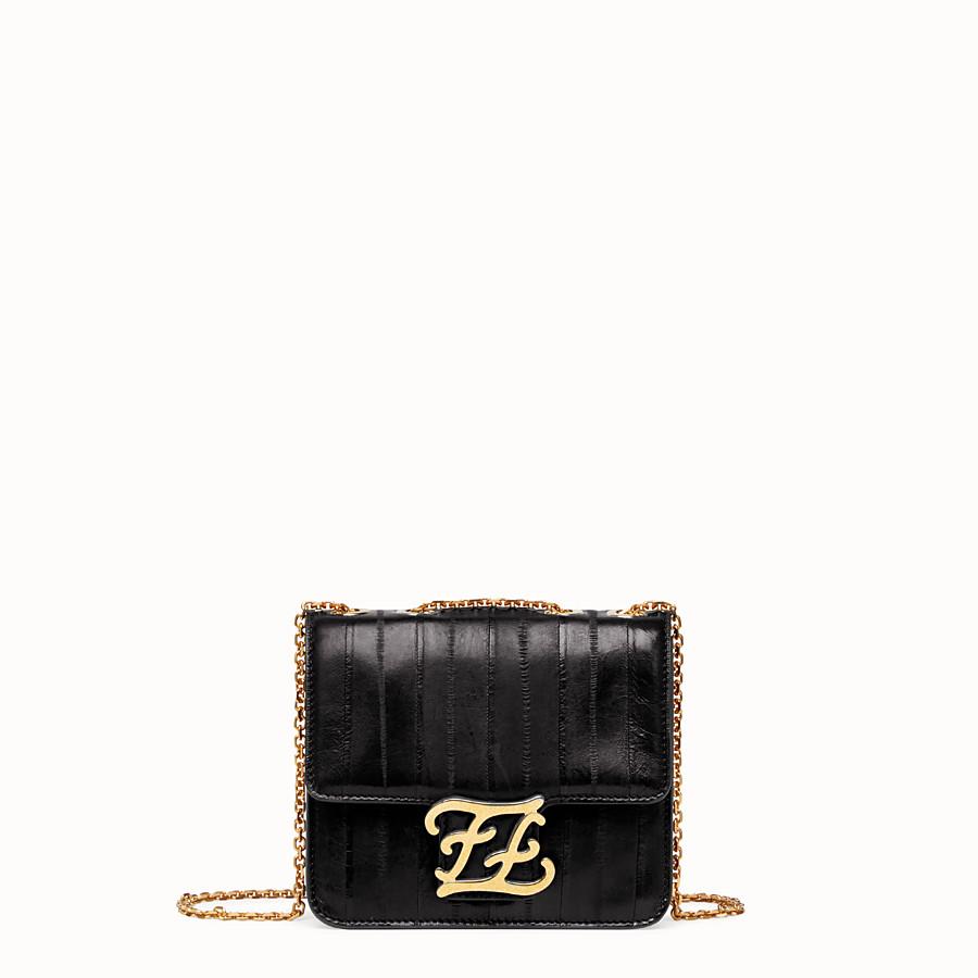 FENDI KARLIGRAPHY - Black eel leather bag - view 1 detail