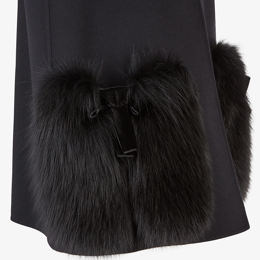 FENDI GILET - Black wool gilet - view 3 detail