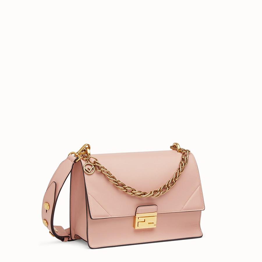 FENDI KAN U - Pink leather bag - view 3 detail