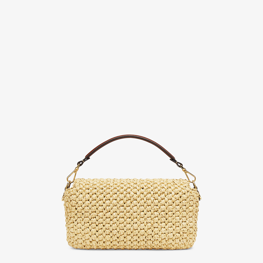 FENDI BAGUETTE - Woven straw bag - view 3 detail