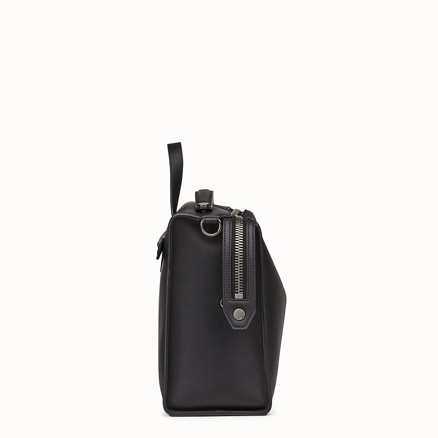 FENDI MESSENGER - Smooth black-leather bag - view 2 detail