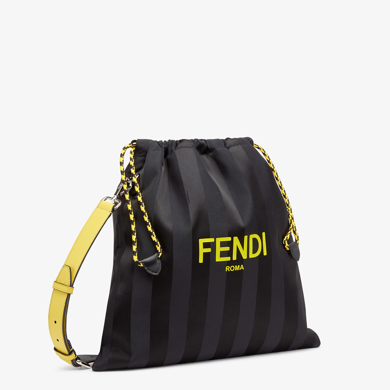 FENDI FENDI PACK MEDIUM POUCH - Black nylon bag - view 2 detail
