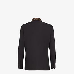 FENDI SHIRT - Black cotton shirt - view 2 thumbnail