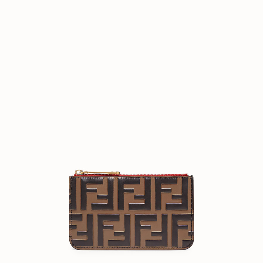 31f0291bf615 Brown leather pouch - KEY RING POUCH