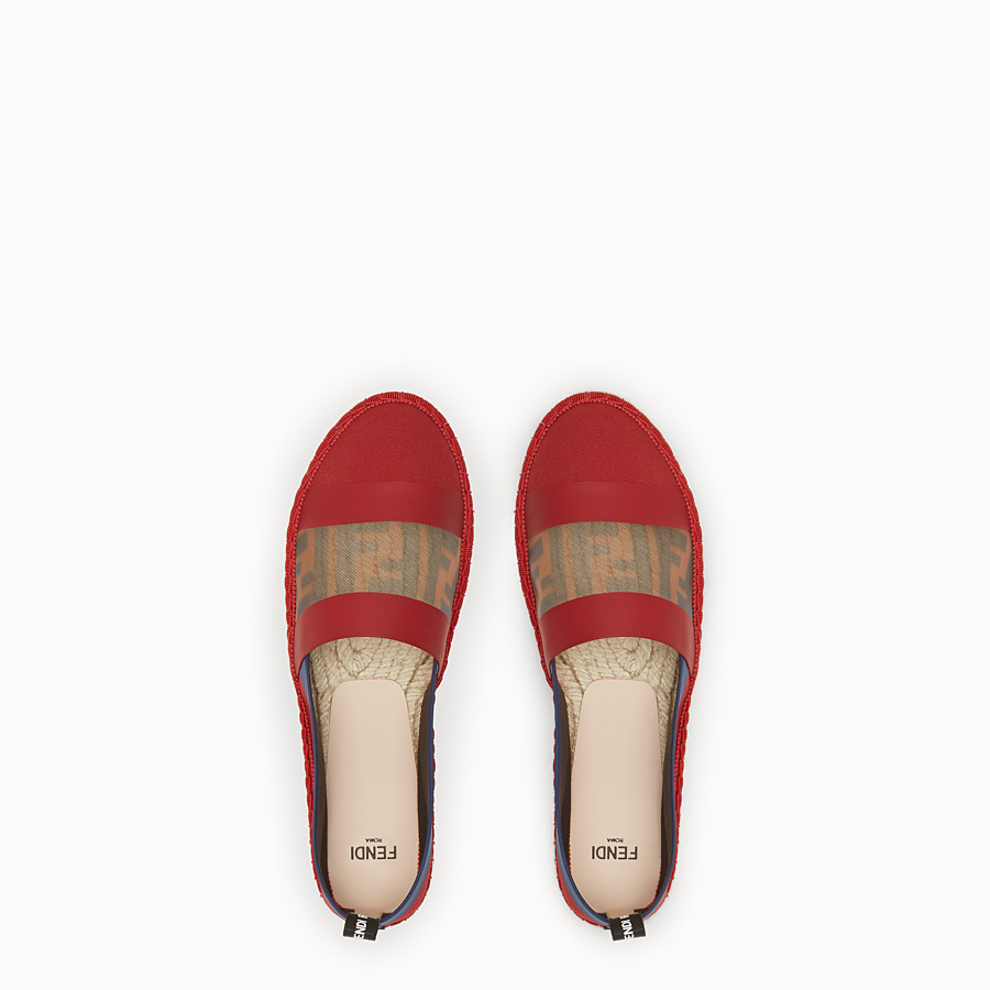 FENDI ESPADRILLES - Red canvas espadrilles - view 4 detail