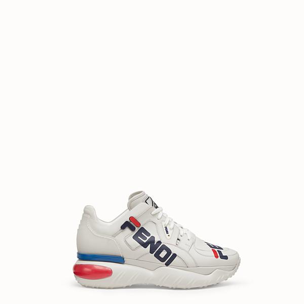 FENDI 運動鞋 - 白色皮革運動鞋 - view 1 小型縮圖