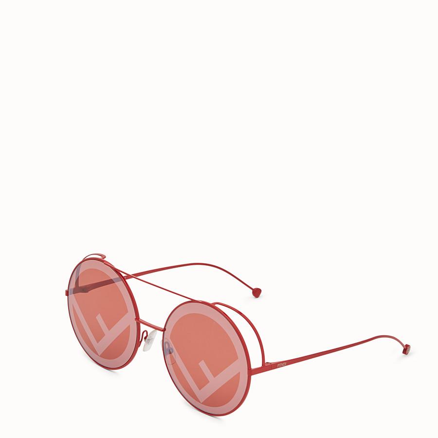 FENDI RUN AWAY - Gafas de sol rojas del desfile O/I 2017. - view 2 detail