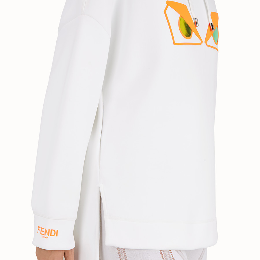 FENDI SWEAT-SHIRT - Sweat-shirt en tissu blanc - view 4 detail