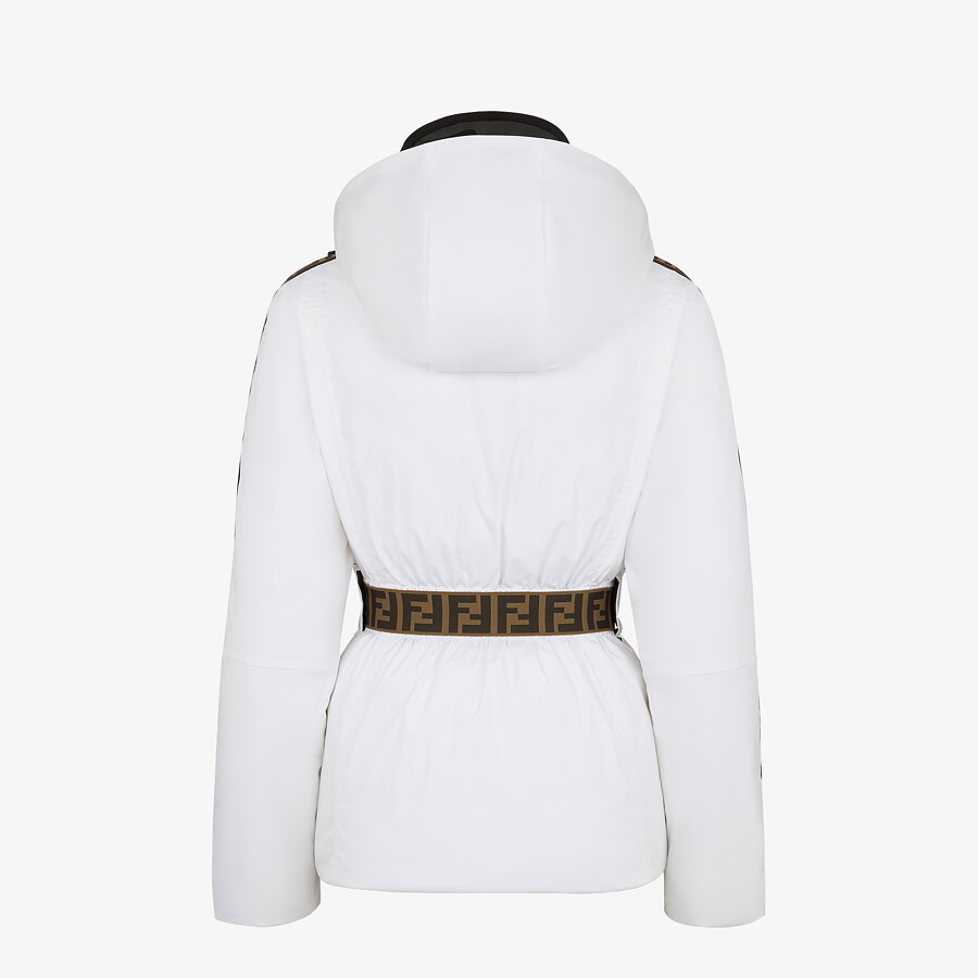 FENDI SKI JACKET - Ski jacket in white tech nylon - view 2 detail