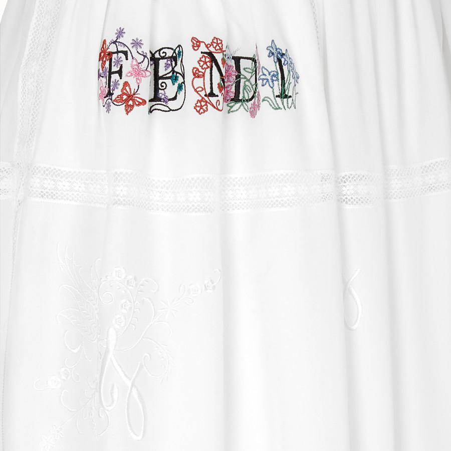FENDI 스커트 - 화이트 컬러의 크레이프 드 신 스커트 - view 3 detail