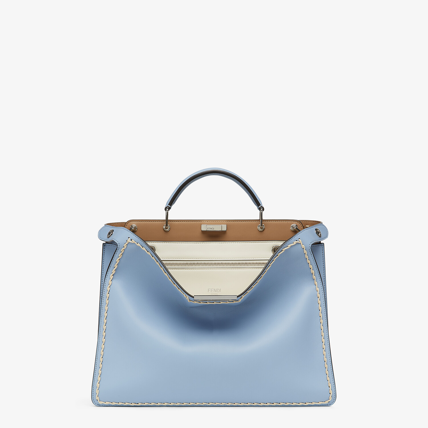 FENDI MEDIUM PEEKABOO ISEEU - Light blue leather bag - view 1 detail