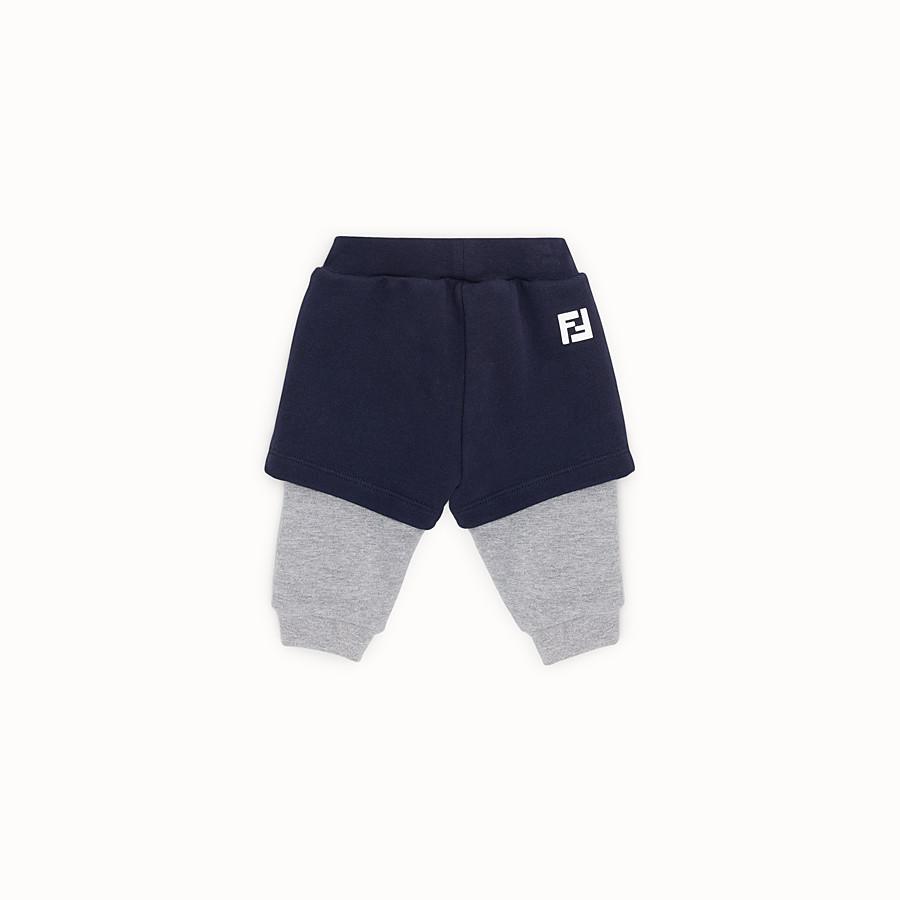 FENDI PANTALONE - Doppio pantalone jogging in felpa multicolor - vista 2 dettaglio