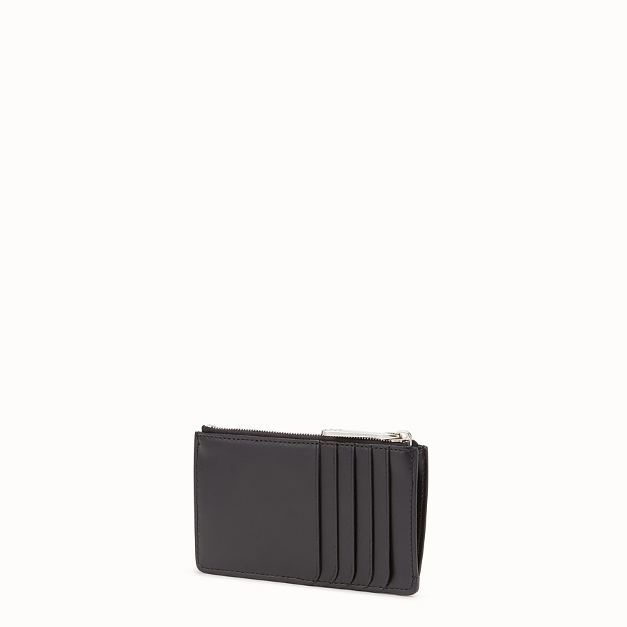 FENDI CARD POUCH - Black leather pouch - view 2 detail
