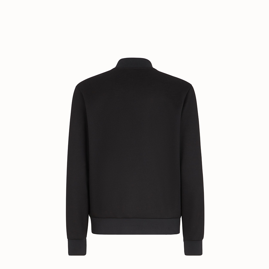 FENDI BLOUSON JACKET - Black tech fabric jacket - view 2 detail