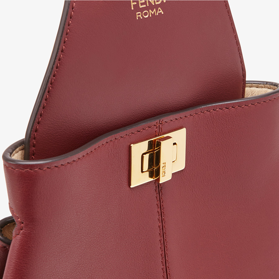 FENDI GUITAR BAG - Burgundy leather mini-bag - view 5 detail
