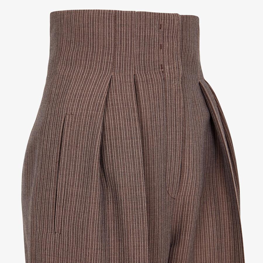FENDI SUIT - Brown wool suit - view 6 detail