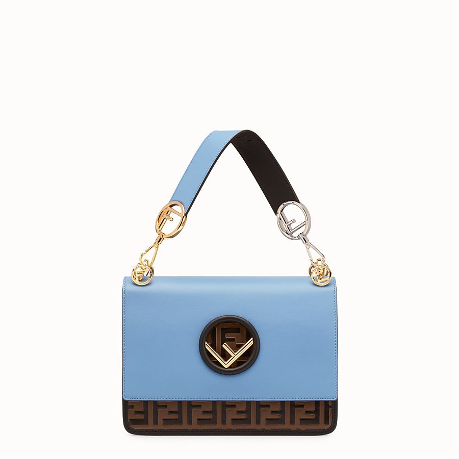 FENDI KAN I F - Pale blue leather bag - view 1 detail
