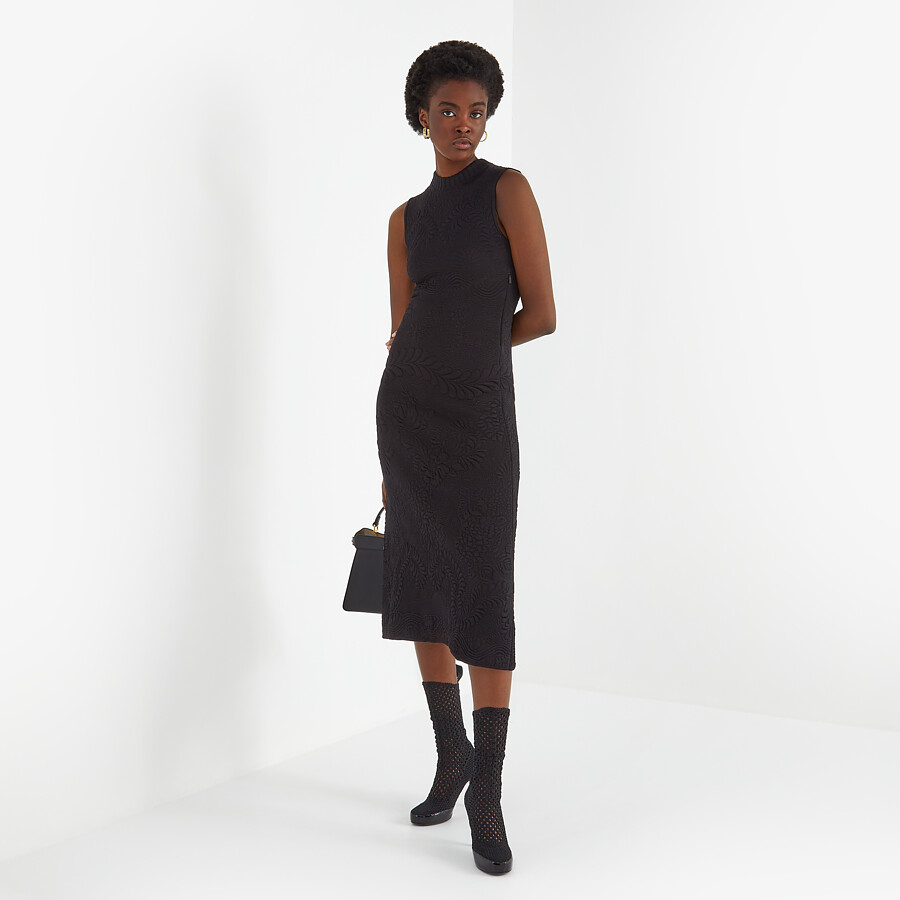 FENDI DRESS - Black viscose dress - view 4 detail