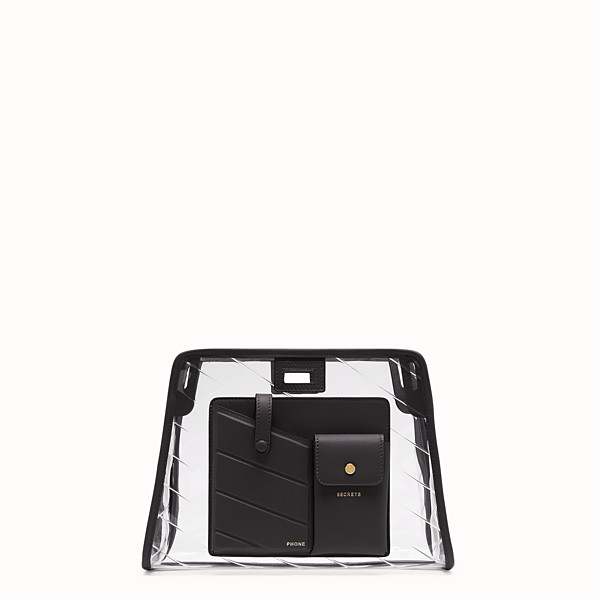 FENDI SMALL PEEKABOO DEFENDER - Peekaboo black leather bag cover. - view 1 small thumbnail