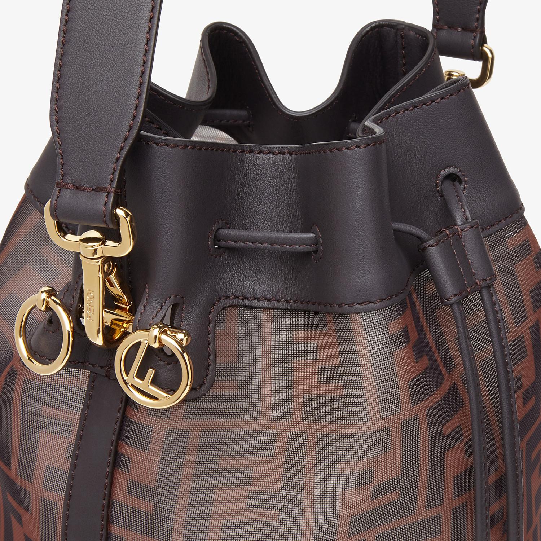 FENDI MON TRESOR - Brown tech mesh bag - view 5 detail