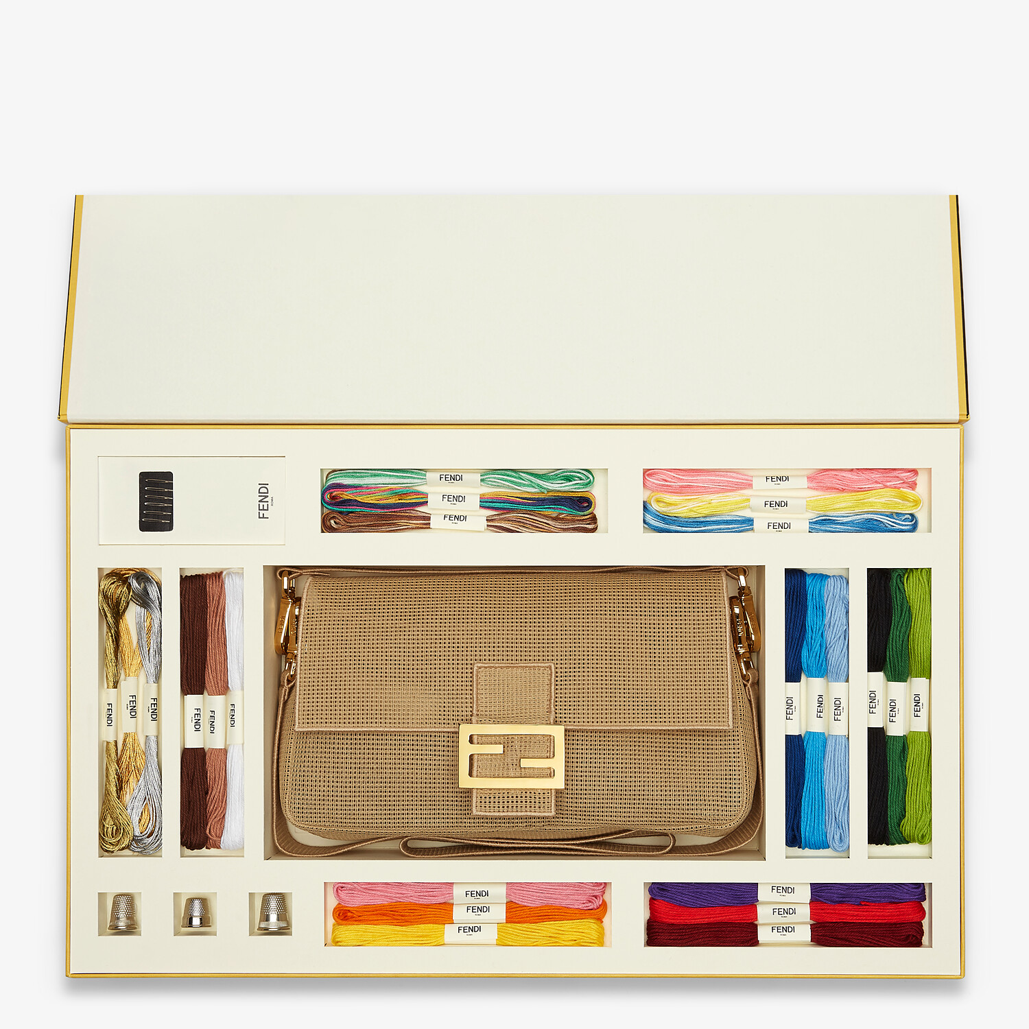 FENDI BAGUETTE - Bag with embroidery kit for adding a personal touch - view 1 detail