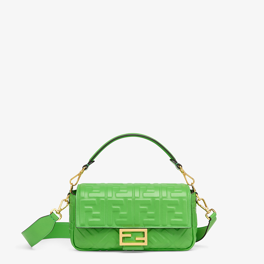 FENDI BAGUETTE - Green nappa leather bag - view 1 detail