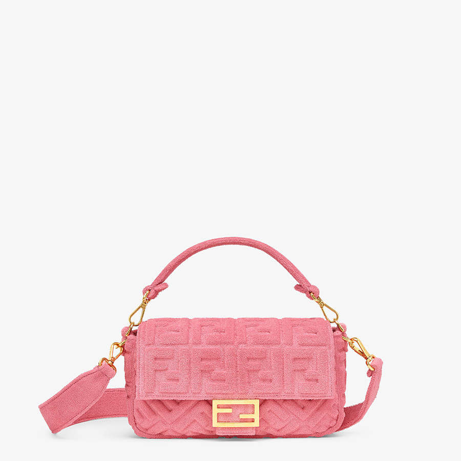 FENDI BAGUETTE - Pink terrycloth bag - view 1 detail