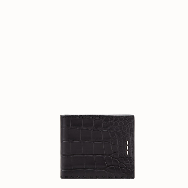 FENDI WALLET - Black alligator bi-fold - view 1 small thumbnail