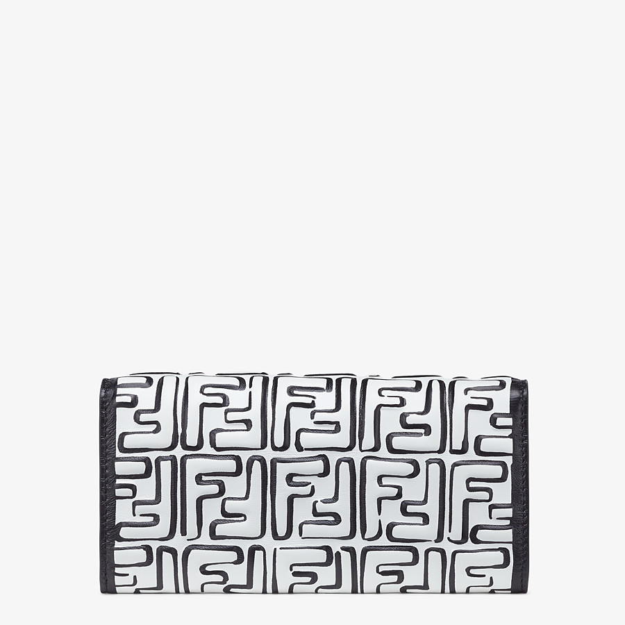 FENDI CONTINENTAL WITH CHAIN - White nappa leather wallet - view 3 detail