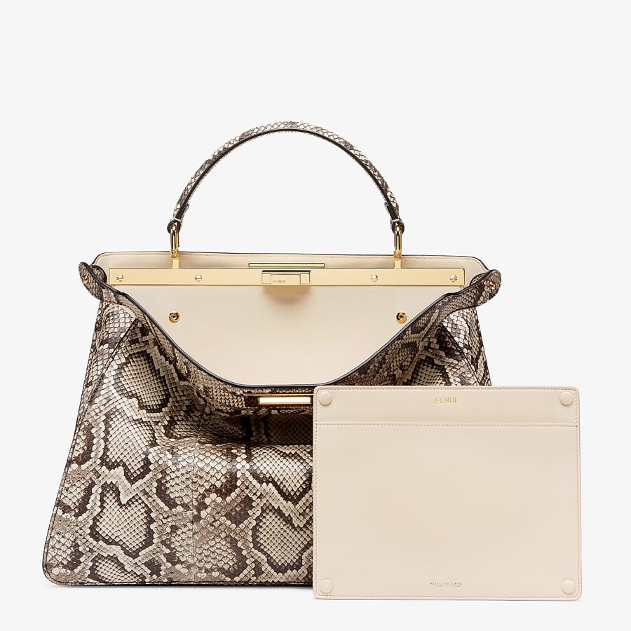 FENDI PEEKABOO ISEEU LARGE - Natural python leather bag - view 4 detail