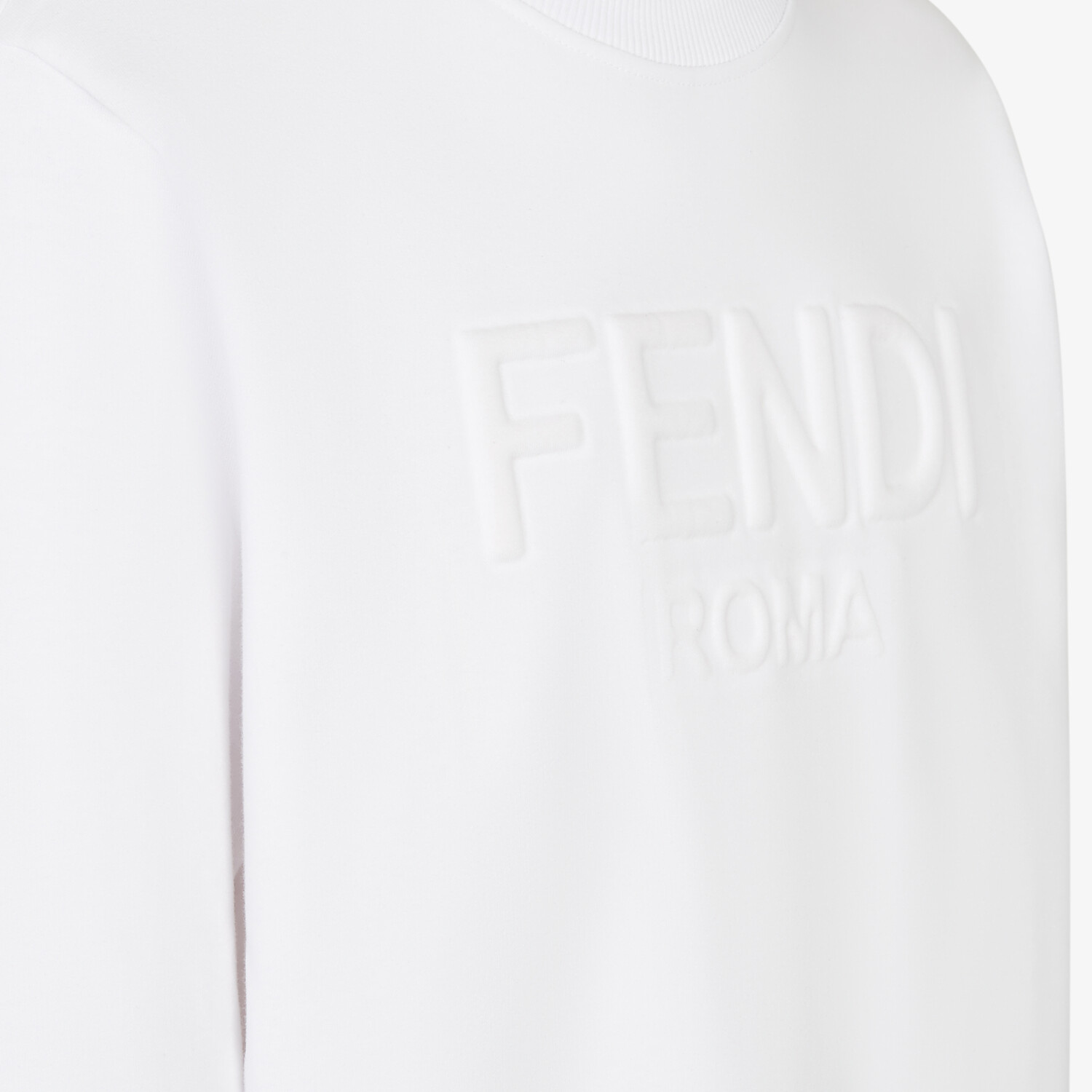 FENDI SWEATSHIRT - White jersey sweatshirt - view 3 detail