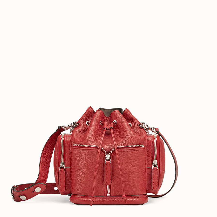 FENDI MON TRESOR - Red leather bag - view 1 detail