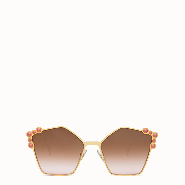 FENDI CAN EYE - Lunettes de soleil couleur or rose - view 1 small thumbnail