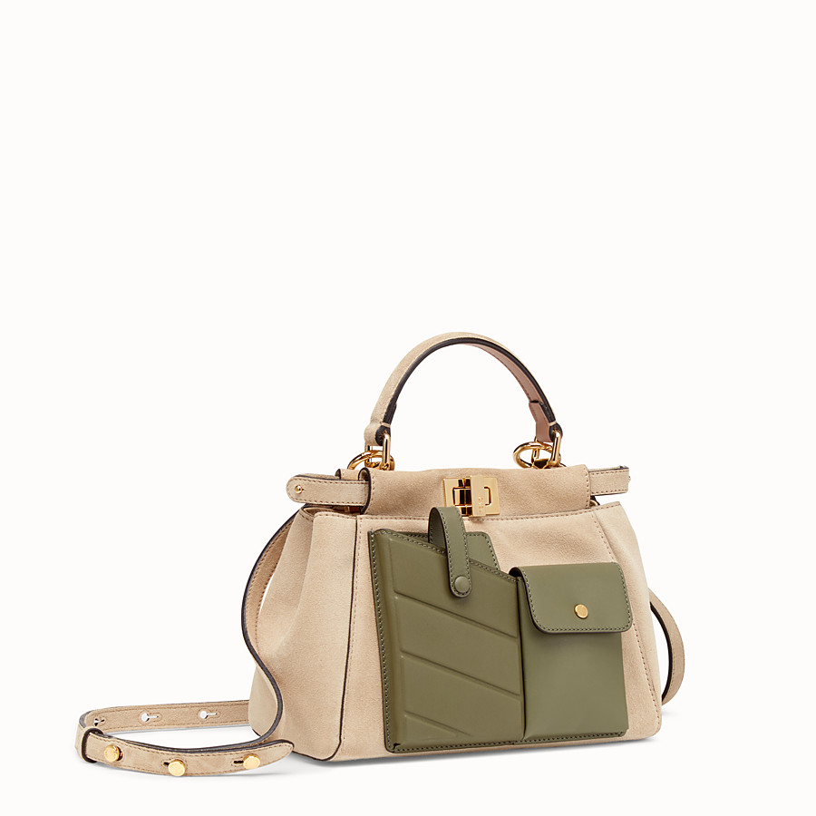 FENDI PEEKABOO MINI POCKET - Beige split bag - view 2 detail