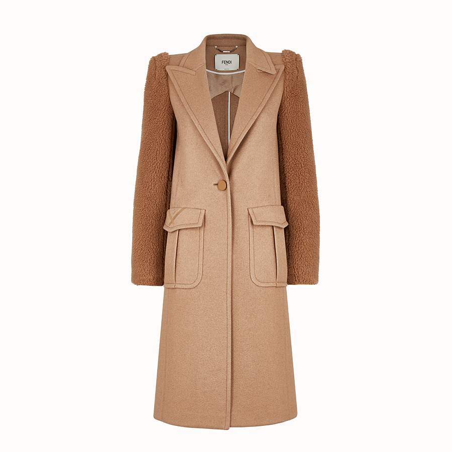 FENDI OVERCOAT - Brown camel coat - view 1 detail