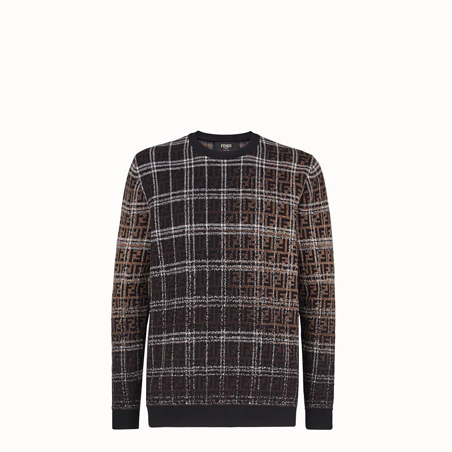 FENDI PULLOVER - Pullover aus Wolle in Braun - view 1 detail