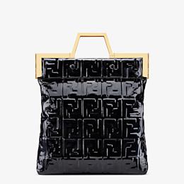 FENDI FLAT SHOPPING BAG MEDIUM - Black vinyl shopper bag - view 1 thumbnail