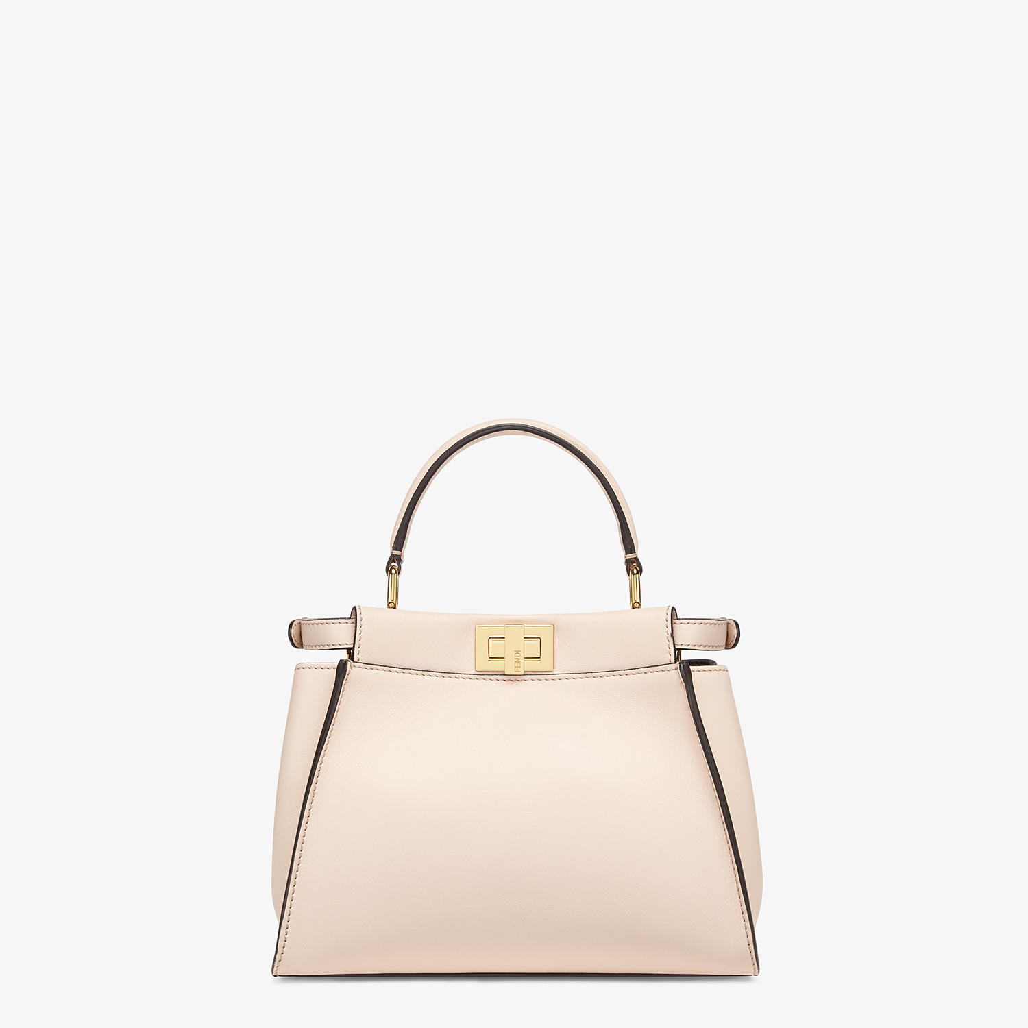 FENDI PEEKABOO ICONIC MINI - Pink leather bag - view 4 detail
