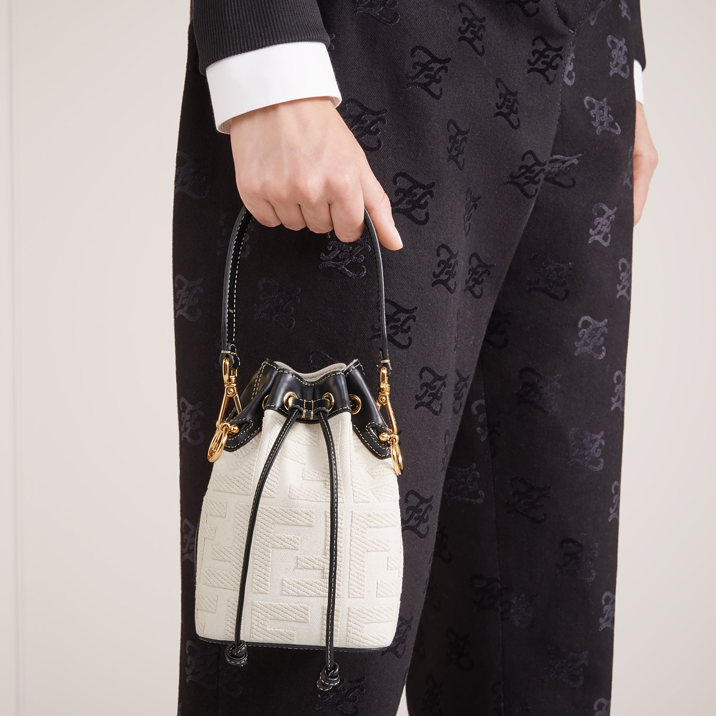 FENDI MON TRESOR - Mini bag in beige canvas - view 2 detail