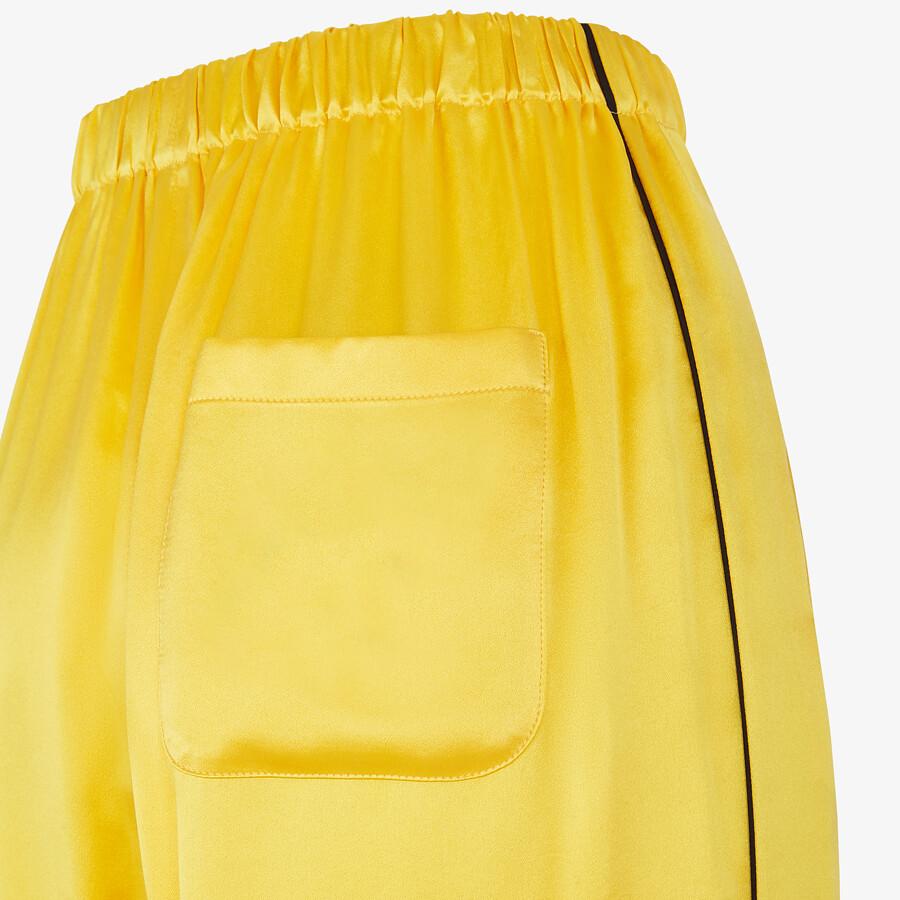 FENDI PAJAMAS - Yellow silk pajamas - view 6 detail
