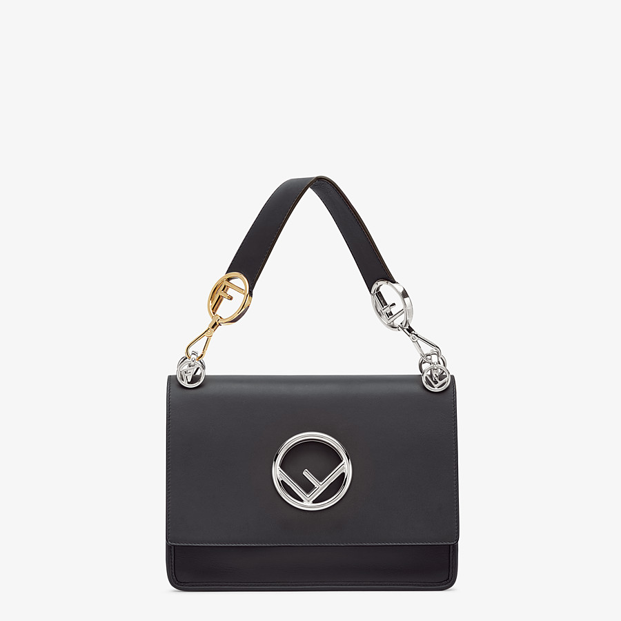 FENDI KAN I F - Black leather bag - view 1 detail