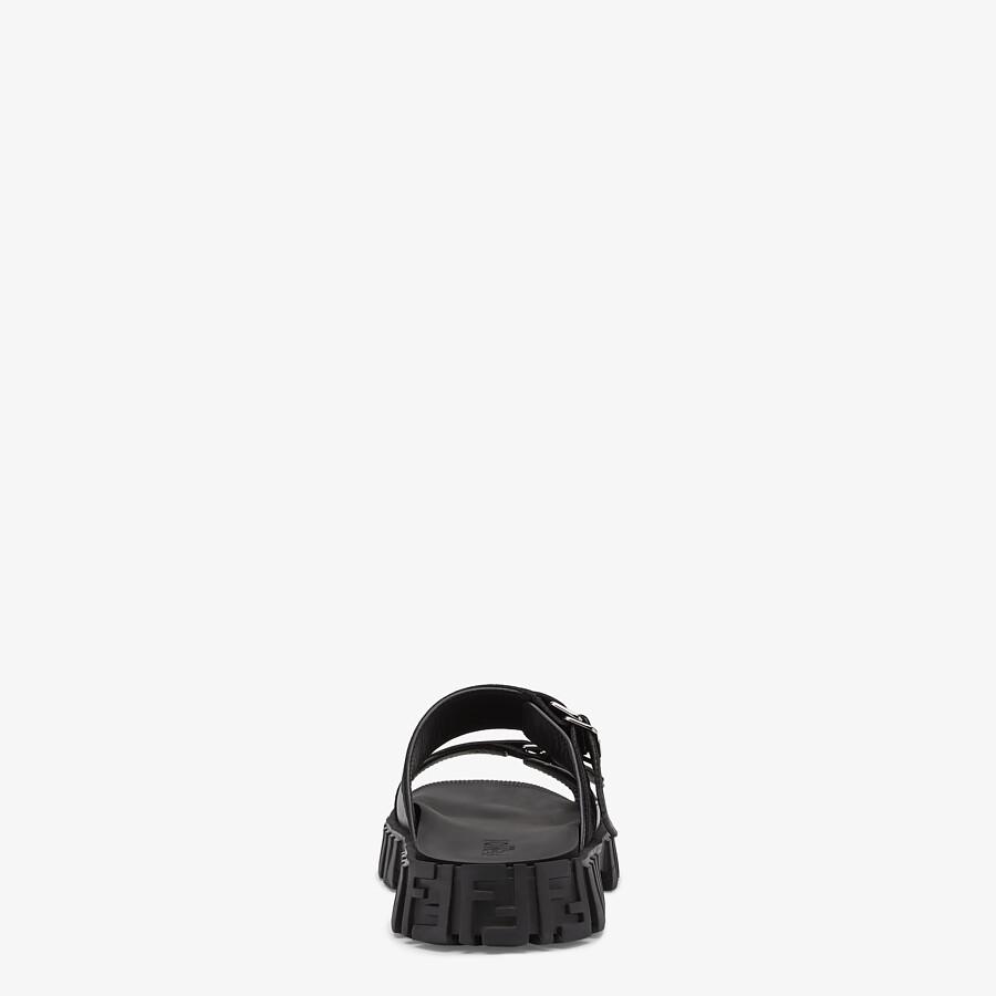 FENDI SANDALS - Black fabric sandals - view 3 detail