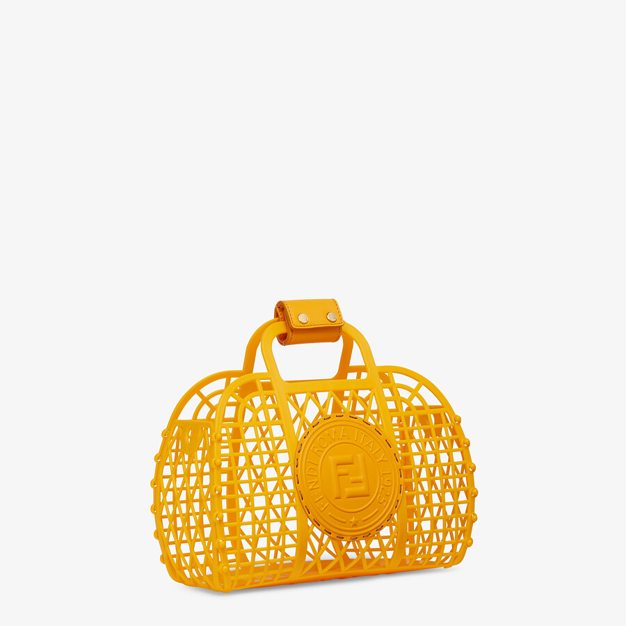 FENDI FENDI BASKET SMALL - Orange recycled plastic mini-bag - view 3 detail