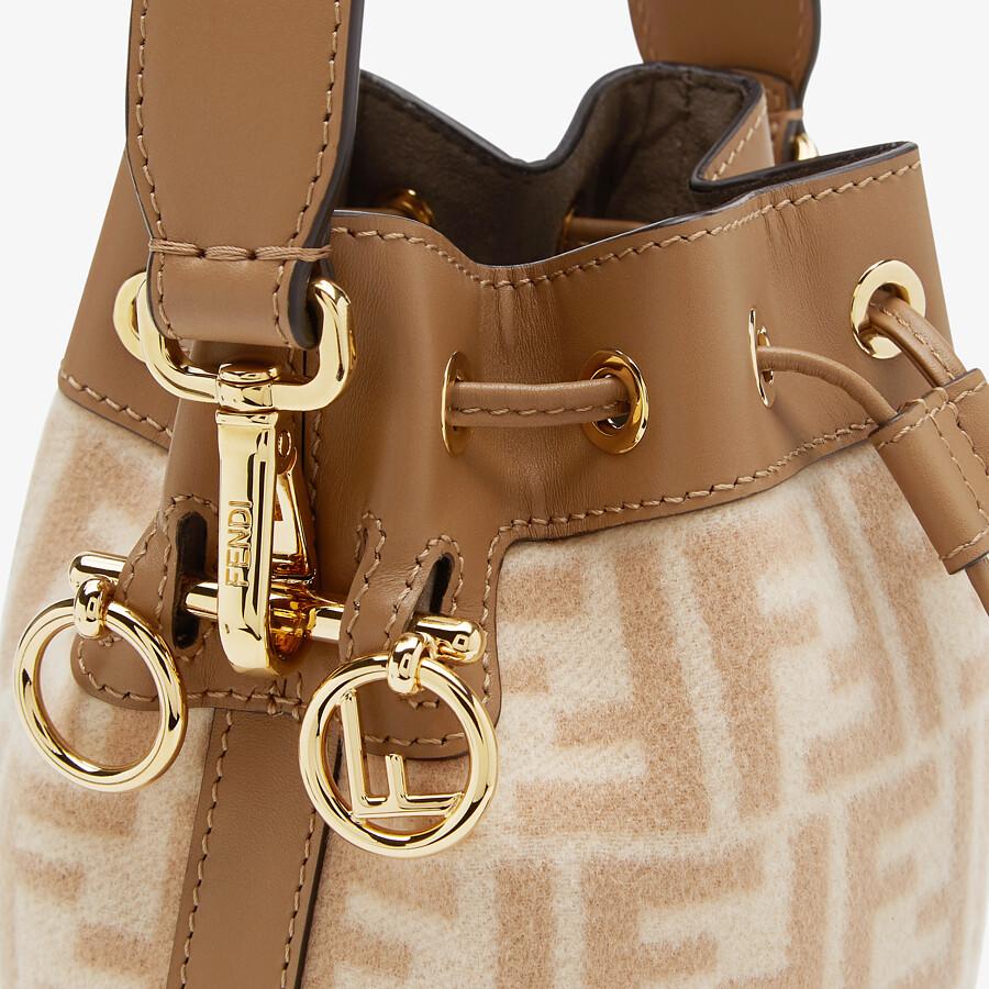 FENDI MON TRESOR - FF beige wool mini-bag - view 5 detail