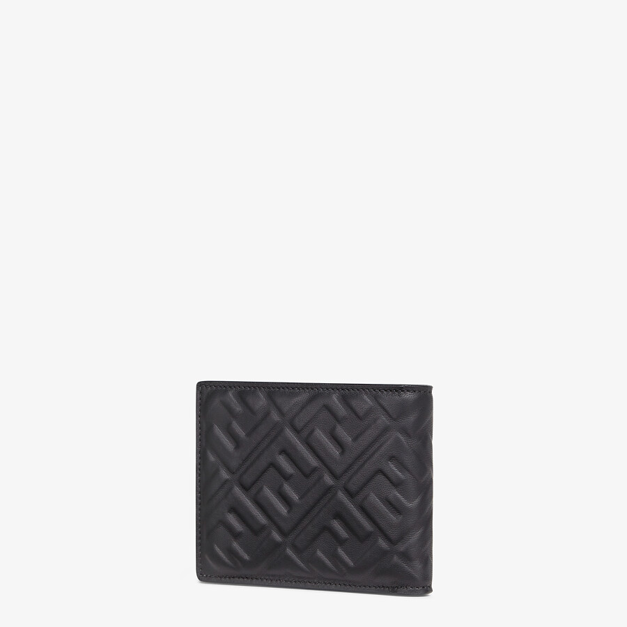 FENDI WALLET - Black nappa leather bi-fold wallet - view 2 detail