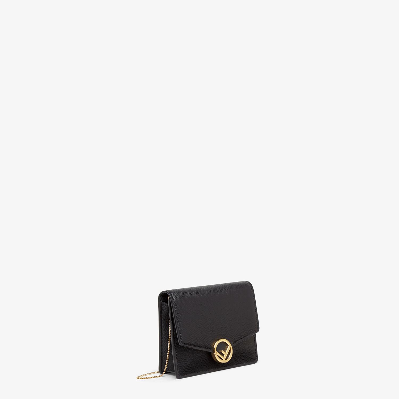 FENDI PORTEMONNAIE MIT TRAGEKETTE - Mini-Tasche aus Leder in Schwarz - view 2 detail