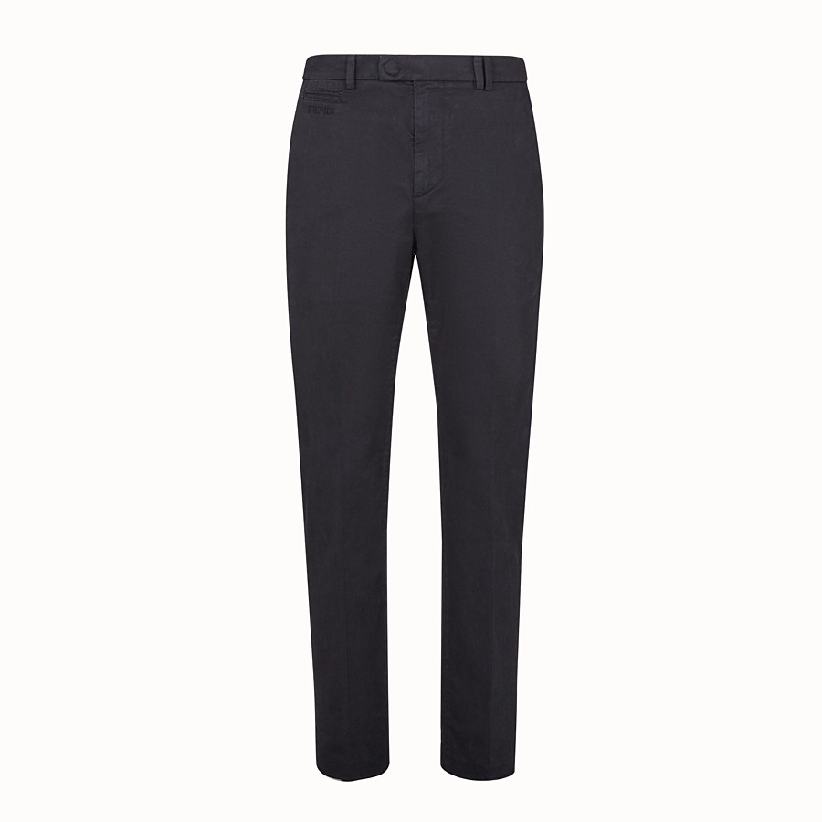 FENDI PANTS - Black cotton pants - view 1 detail